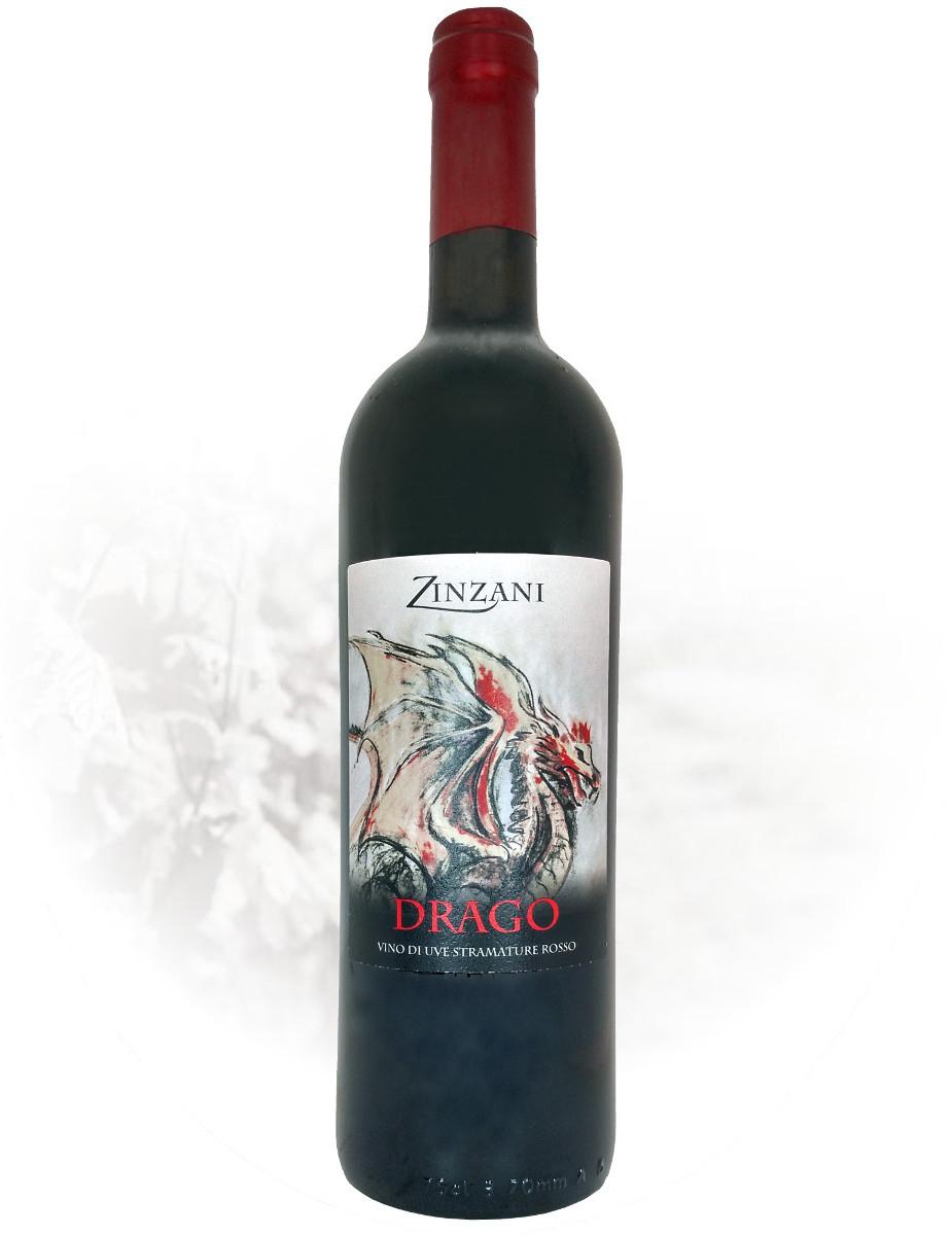 Drago vino da uve stramature rosso negozio Zinzani Vini Faenza