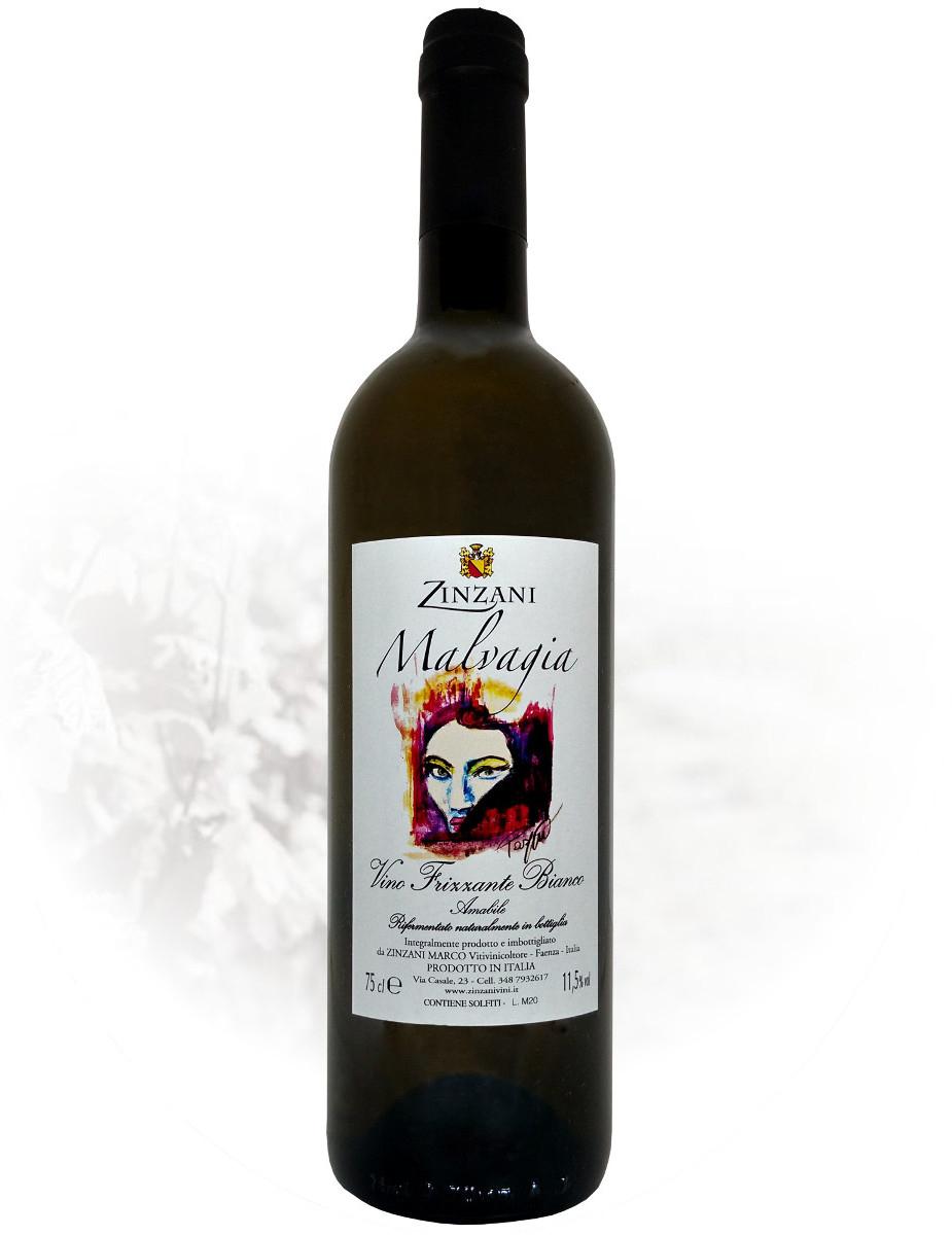 Malvagia Vino Frizzante Bianco negozio zinzani vini faenza